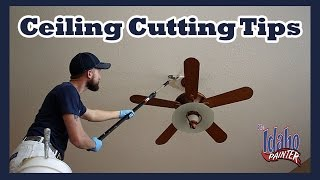 Painting HIGH Ceilings.  How to paint hard to reach areas.  Painting with a brush holder.