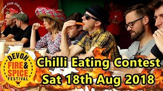 Chilli Eating Contest Devon Fire & Spice Festival Saturday 18th August 2018