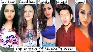 Top 15 Musers of Musically 2018   Aashika, Manjul, Avneet, Heer, Nagma, mrunal