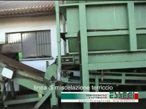 Mixing line for peat - linea di miscelazione per terriccio