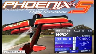 Phoenix RC 5 Professional Radio Control Flight Simulator REVIEW WFLY ET16 CONTROLLER USED