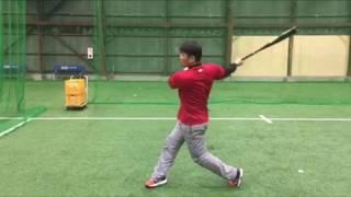 「バットを背中に回して下半身を動かす練習」(ブリスフィールド東大阪 野球教室 平下コーチ(元阪神タイガース))