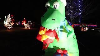 Walk through Christmas light display