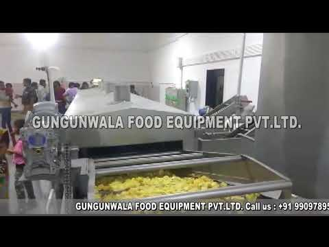 Semi Automatic Chips Frying Line With Wooden Heat Exchanger