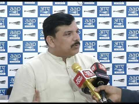 AAP Senior Leader & RS MP Sanjay Singh Briefs on CBI Raid at Satyendra Jain's House