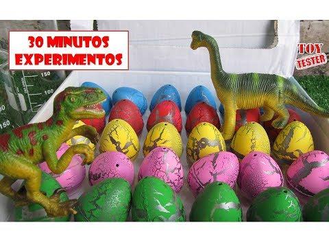 30 Minutos Nuevos Experimentos Caseros con huevos de dinosaurios para niños