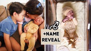 BRINGING NEWBORN BABY HOME TO MEET HIS SIBLINGS + Name Reveal