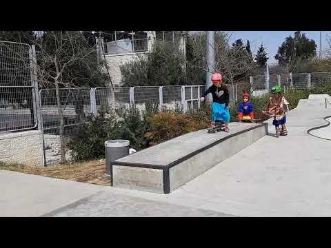 Purim 2019 jerusalem skatepark #kids #skateboarding