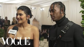 Kylie Jenner and Travis Scott on Their Parents' Night Out | Met Gala 2018 With Liza Koshy | Vogue - Video Youtube