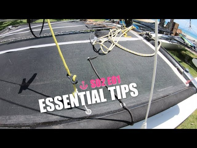 Quick Tips for Cat Sailors   S02 E01 - Fibreglass splinters, cleat springs and shockcord
