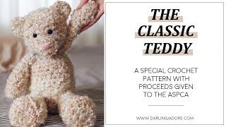 The Classic Teddy Bear Crochet Pattern By Darling Jadore | Amigurumi Crochet Teddy Bear Pattern