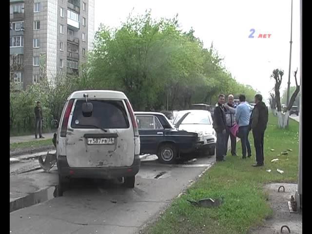 В аварию попали сразу четыре машины