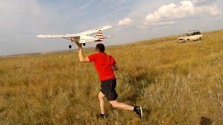 Запуск маятникового самолёта  - 15 лет ждал...