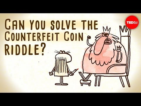 The counterfeit coin riddle using their mass