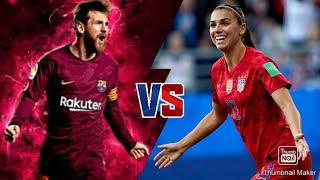 who is the god of football alex morgan vs messi