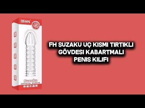 FH Suzaku Uç Kısmı Tırtıklı Gövdesi Kabartmalı Penis Kılıfı