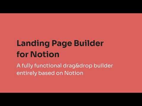 Landing Page Builder for Notion | Available at Prototion
