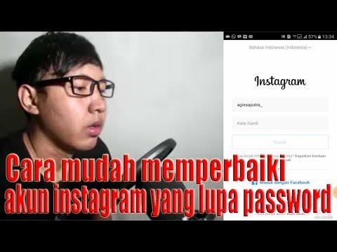Video Cara mudah memperbaiki akun instagram yang lupa password