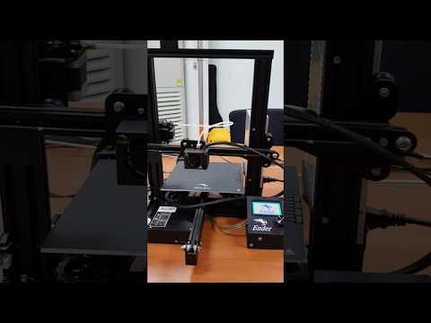 First Ender 3D printer test
