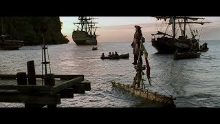 Jack's entry scene from all Pirates of the Caribbean movies (1-4) || 4K video