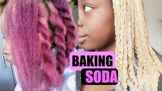 REMOVING Purple hair color | NO BLEACH using BAKING SODA