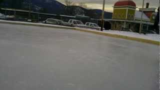 Ice Skating in North Conway Center, Schouler park 2013