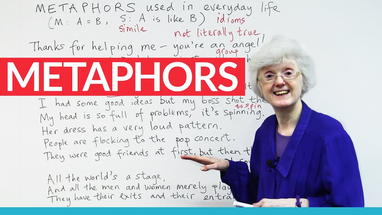 using metaphors to speak english more fluently 183 engvid
