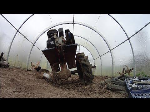 Переоборудование мотоблока Нева под расчистку снега.