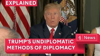 What is Trump's method of diplomacy?