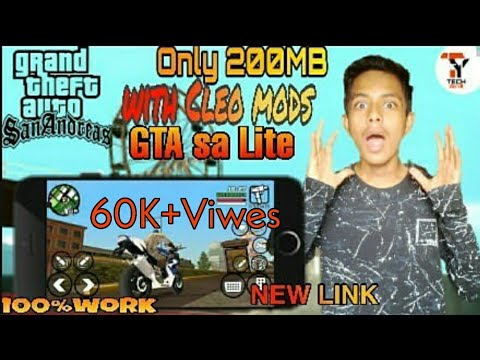 250MB] GTA San Andreas Lite With Cleo Mod || apk+ data || active
