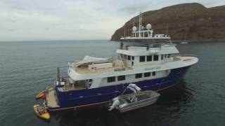 92' Allseas Expedition Yacht Drone video Sea of Cortez, MX