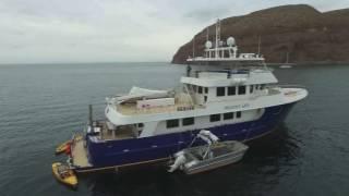 92' Allseas Expedition Yacht Drone video Sea of Cortez, MX