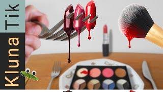 EATING MAKEUP!! ASMR | KLUNATIK COMPILATION | eating sounds no talk MAKE-UP, comiendo maquillaje