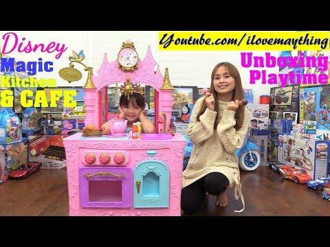 Pink Kitchen Playset, Cooking Playset and Pretend Food Playset. Disney Princess Kitchen & Cafe