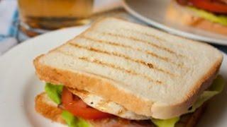Смотреть онлайн Рецепт приготовления сэндвича на завтрак