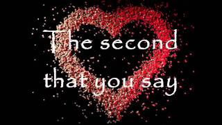 The Second That You Say - Chase Coy. [LYRICS]