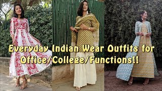 Everyday Indian SUMMER Outfits For College/Office | SONIA