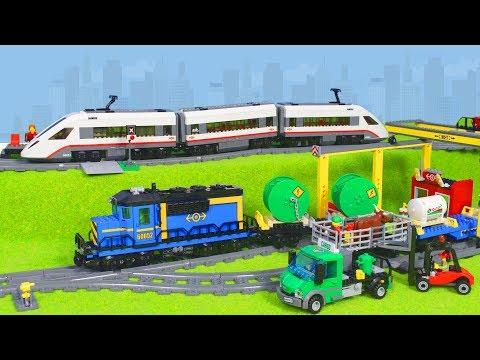 LEGO City Zug: Neue Eisenbahn mit Kran & Spielzeugautos für Kinder | Unboxing deutsch