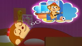 Mommy put a Disobedient Funny Monkey to bed