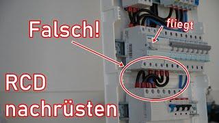 Weiteren FI-Schalter (RCD) einbinden