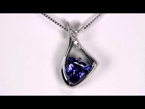 Tanzanite and Diamond Pendant 1.68 Carat