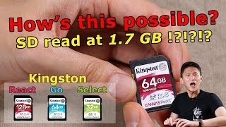 SD card reads at 1.7 GB?!? - Kingston Canvas SD Cards Review