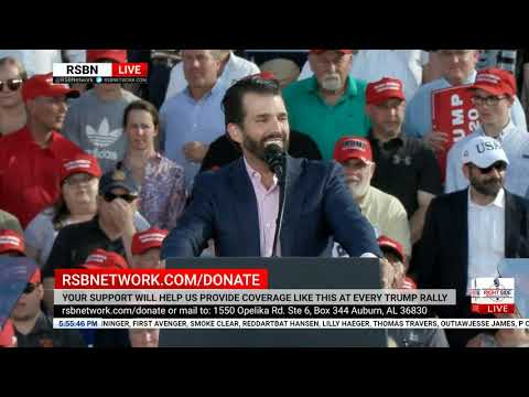 Donald Trump Jr. Delivers EXPLOSIVE Speech at MAGA Rally in Montoursville, PA 5/20/19