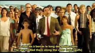 Mr. Bean Movie La Mer Charles Trénet French English Lyrics Paroles Translation