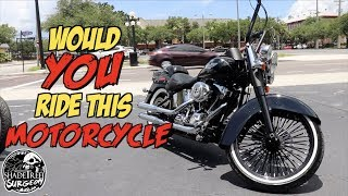 Would YOU ride this motorcycle? | Custom Harley Davidson Softail Deluxe