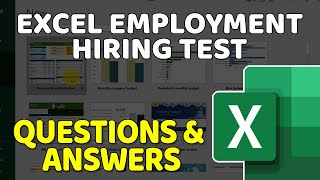 Excel Job Interview Questions and Answers