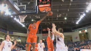 Bucknell Forward Bruce Moore Hustles & Swats Ball Out Of Bounds
