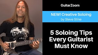 5 Soloing Tips Every Guitarist Must Know | Creative Soloing Workshop