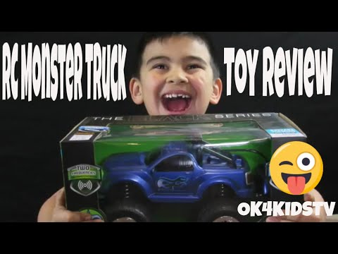 RC MONSTER TRUCK Remote Control Toy Car for kids unboxing and toy review ok4kidstv video 155