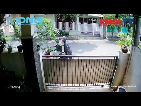 Curanmor Terekam CCTV di Pamulang Tangsel